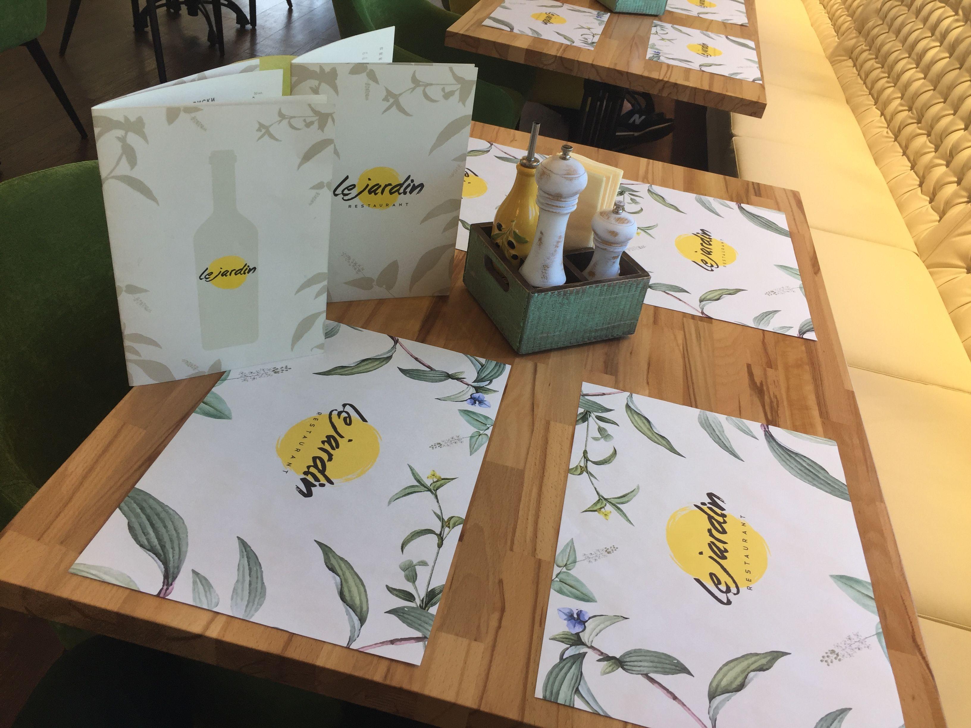Таблички, интерьерные вывески, дизайн, проектирование, интерьерное оформление, ресторан, Le Jardin, реклама, логотип
