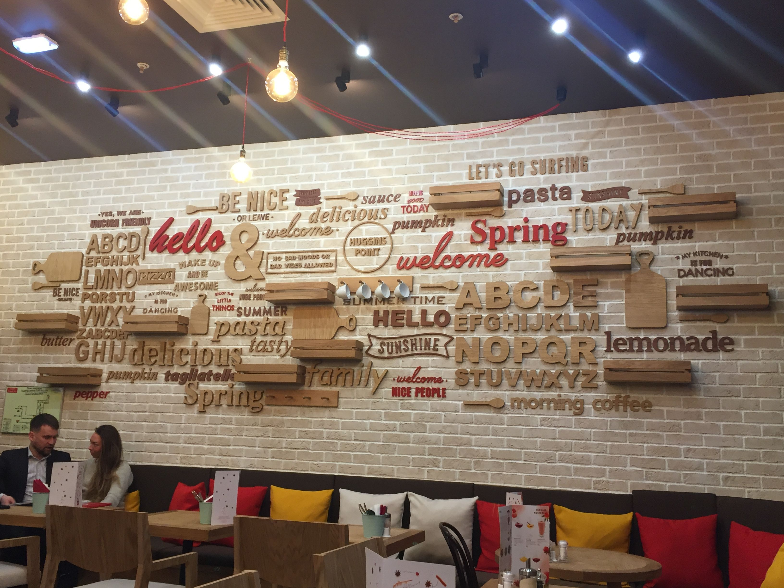 Интерьер, вывески, оформление, объёмные буквы, дизайн, проектирование, интерьерное оформление, реклама, логотип, Pizza Pasta
